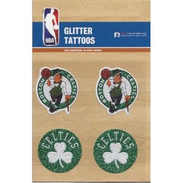 Boston Celtics Glitter Tattoo Set