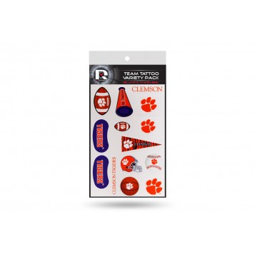 Clemson Tigers Variety Pack Tattoo Set