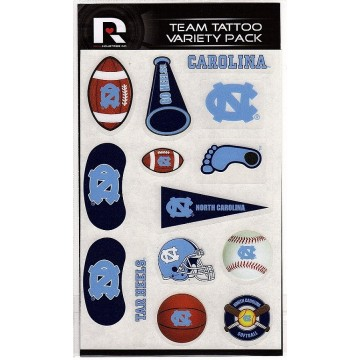 North Carolina Tar Heels Variety Pack Tattoo Set
