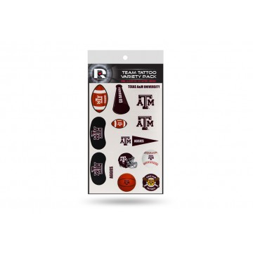 Texas A&M Aggies Variety Pack Tattoo Set