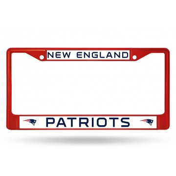 New England Patriots Red Anodized License Plate Frame
