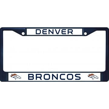 Denver Broncos Anodized Blue License Plate Frame