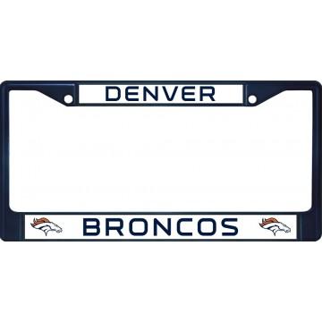Denver Broncos Anodized Blue License Plate Frame