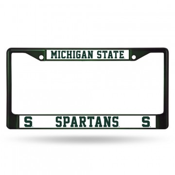 Michigan State Spartans Anodized Green License Plate Frame