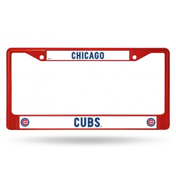 Chicago Cubs Anodized Red License Plate Frame