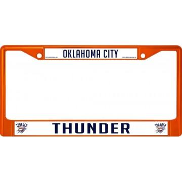 Oklahoma City Thunder Anodized Orange License Plate Frame