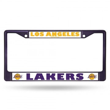 Los Angeles Lakers Anodized Purple License Plate Frame