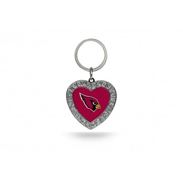 Arizona Cardinals Bling Rhinestone Heart Key Chain