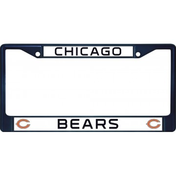 Chicago Bears Anodized Blue License Plate Frame