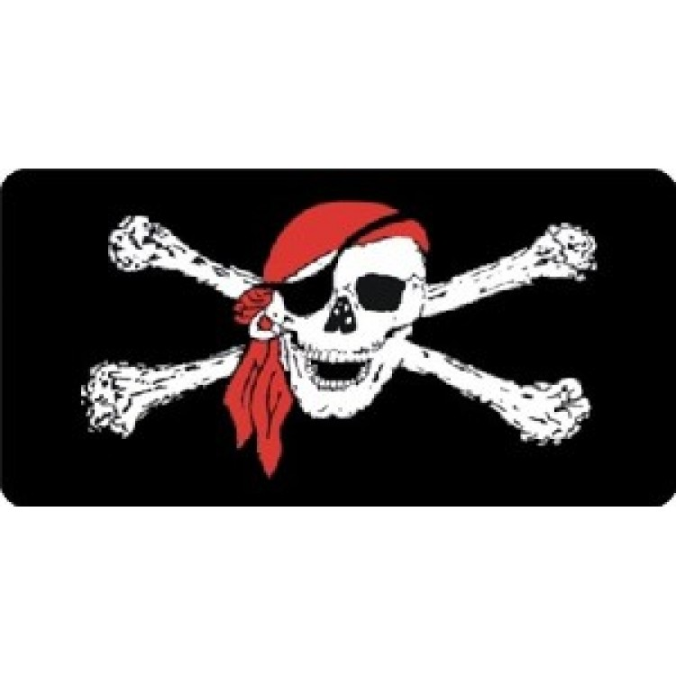Pirate With Scarf Photo License Plate