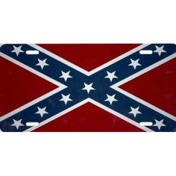Rebel Flag Airbrush License Plate