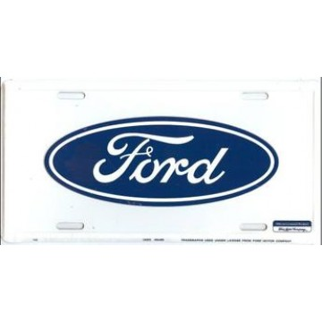 Ford Oval Logo License Plate