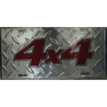 4x4 Diamond License Plate