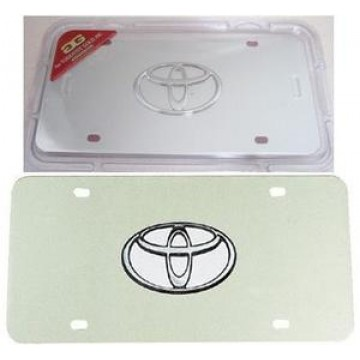 Toyota 3-D Chrome Logo Stainless Steel License Plate