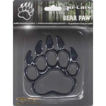 Bear Paw Chrome Auto Emblem