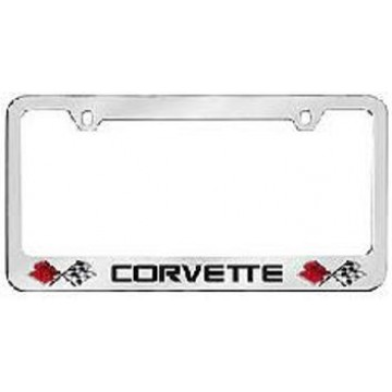 Corvette Solid Brass License Plate Frame