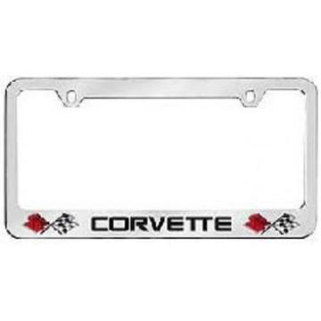 Corvette Solid Brass License Plate Frame