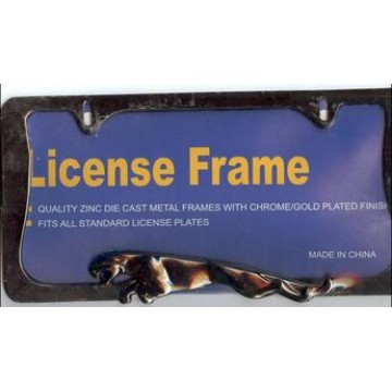Jaguar Black License Frame