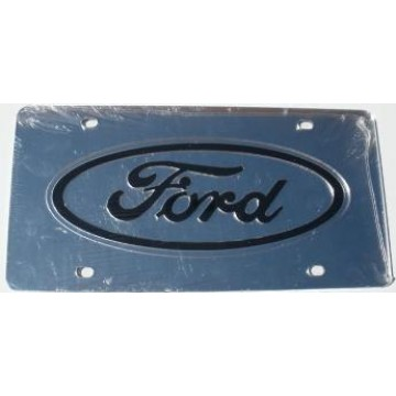Ford Silver Laser License Plate