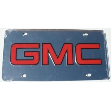 GMC Logo Mirror Laser Cut License Plate