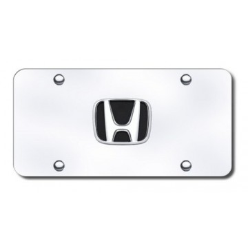 Honda 3-D Logo Stainless Steel License Plate