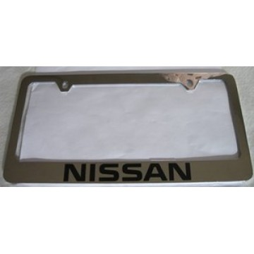 Nissan Solid Brass License Plate Frame
