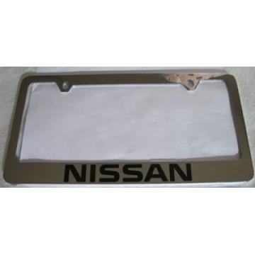 Nissan Solid Brass License Plate Frame