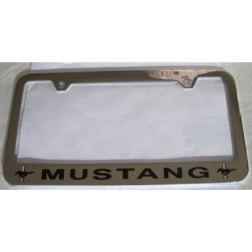 Ford Mustang Solid Brass License Plate Frame