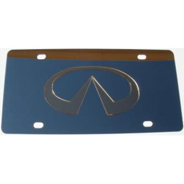 Infiniti Gold Logo Stainless Steel License Plate