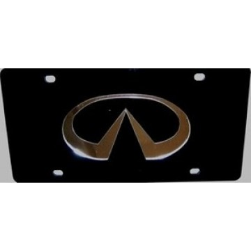 Infiniti Black Laser License Plate