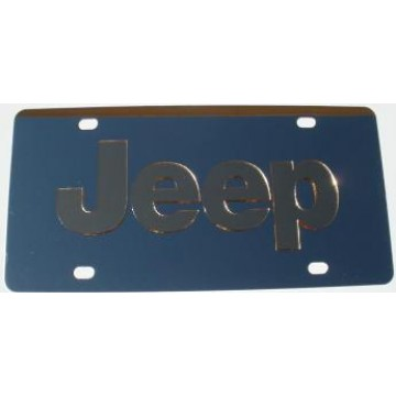Jeep Gold Logo Stainless Steel License Plate