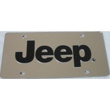 Jeep Silver Laser License Plate