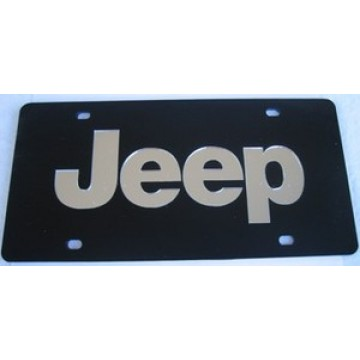 Jeep Black Laser License Plate