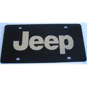 Jeep Black Laser License Plate