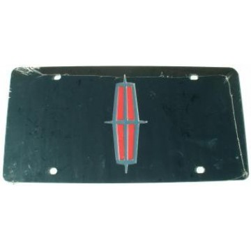 Lincoln Black Laser License Plate