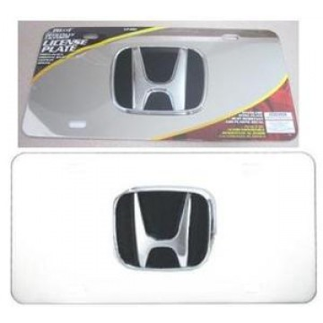 Honda 3-D Chrome Logo Stainless Steel License Plate