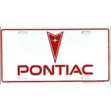 Pontiac White License Plate