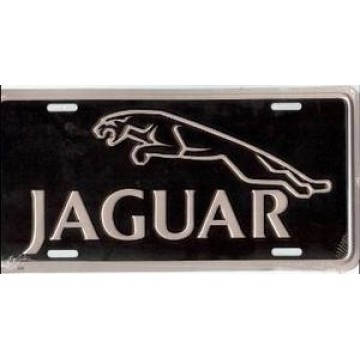 Jaguar Metal License Plate