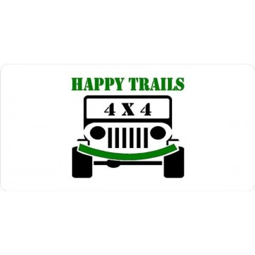 Jeep Happy Trails Photo License Plate