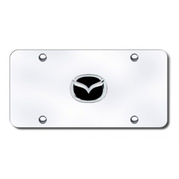 Mazda 3-D Chrome Logo Stainless Steel License Plate