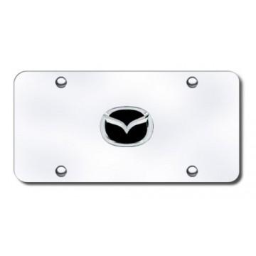 Mazda 3-D Chrome Logo Stainless Steel License Plate