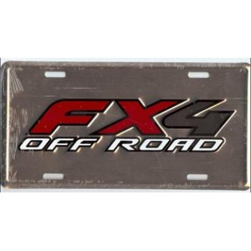 Ford FX4 Off Road Metal License Plate