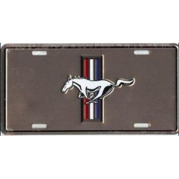 Ford Mustang Anodized Metal License Plate