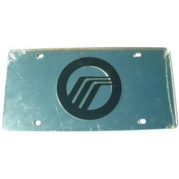 Mercury Silver Laser License Plate