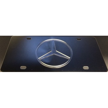 Mercedes Clear Logo Stainless Steel License Plate