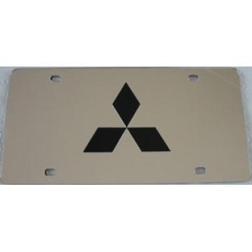 Mitsubishi Silver Laser License Plate