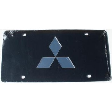 Mitsubishi Black Laser License Plate