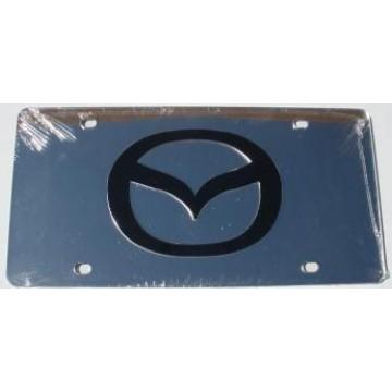 Mazda Silver Laser License Plate
