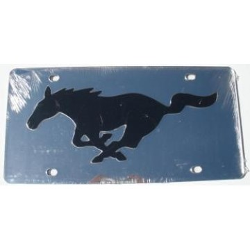 Ford Mustang Silver Laser License Plate