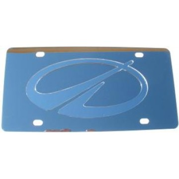 Oldsmobile Silver Logo Stainless Steel License Plate
